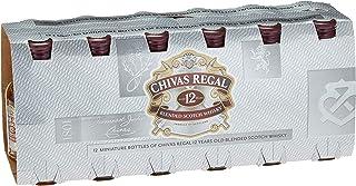 Set Chivas Regal 12 Jahre Premium Blended Scotch Whisky / Miniatur-Set 12er-Box / 12 Jahre gereifter Whisky aus schottischen Malt & Grain Whiskys / 12 x 0,05 L
