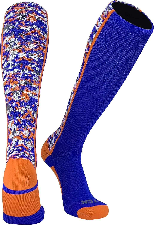TCK Digital Camo Elite Royal Orange Knee High Baseball Football Soccer Socks