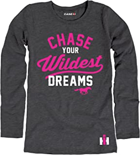Chase Your Wildest Dreams - CASE IH Youth Girl Long Sleeve Tee