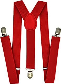 Trilece Kids Boys Suspenders - Adjustable Elastic Y Back...
