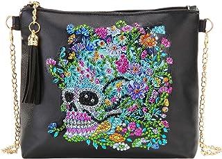 Details about  /Skull ~ handmade Austrian Crystal inlaid clutch animal handbag Party Cocktail