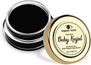 Organic Netra Baby Kajal Natural and Chemical Free – 8g (Pack of 1)