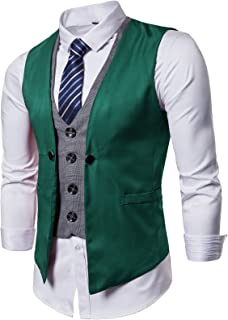 Mens Formal Business Vest for Suit or Tuxedo