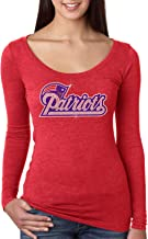 Patriots, Fitted Next Level Tri-Blend Woman Long Sleeve Scoop. Ndk1422