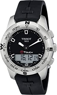 Tissot Men's T0474201705100 T-Touch Black Chronograph Dial Watch