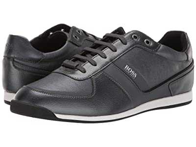 BOSS Hugo Boss Glaze Low Profile Sneaker by BOSS (Dark Grey) Men