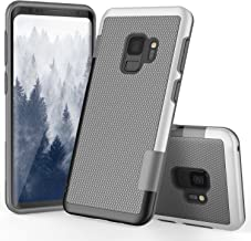 Galaxy S9 Case, S9 Case, TILL(TM) Ultra Slim 3 Color Hybrid Impact Anti-Slip Shockproof Soft TPU Hard PC Bumper Extra Front Raised Lip Case Cover for Samsung Galaxy S9 SM-G960U 5.8 Inch [Light Gray]