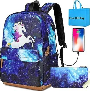 Girls School Backpacks Galaxy Backpack Cute Unicorn Backpack School Bags Bookbag