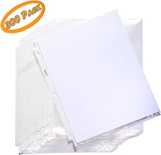 Sheet Protectors, Crystal Clear Top Loading Plastic Binder Sheet Protectors - Reinforced 3 Hole Design - Keep Your Important Papers and documents Safe - for Letter- Sized Papers, Documents - 300-Pack