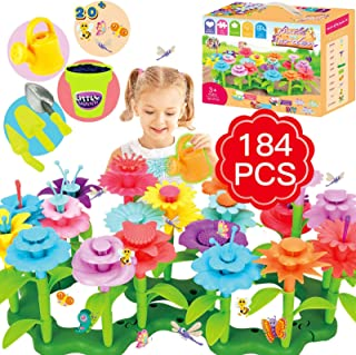 Flower Garden Building Toys, Girls Toys Age 3-6 Year Old Toddlers Toys for Christmas Birthday Gifts, Stem Toys Gardening P...