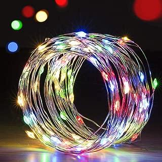 SVAROG イルミネーションライト LED ジュエリーライト usb給電式 10m 100球 8パターン 点滅 点灯 防水 防塵仕様 ガーランドライト 屋外 屋内 正月 クリスマス クリスマスツリー 飾りライト ストリングスライト クリスマス用ライト【2点セット】(マルチカラー)