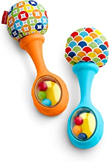 Fisher-Price Rattle N Rock Maracas, Azul/Naranja