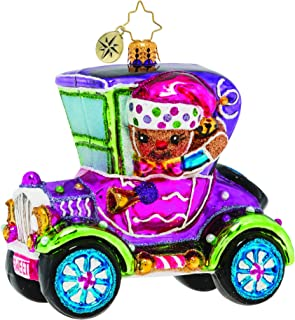 Christopher Radko Hand-Crafted European Glass Christmas Decorative Figural Ornament, Spiffy Racer!