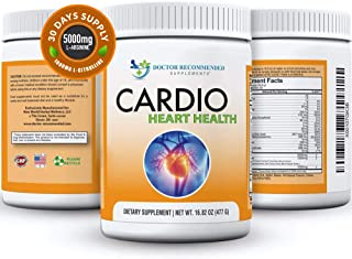 Sponsored Ad - Cardio Heart Health Powder – L-Arginine Supplement 5000mg & L-Citrulline 1000mg,16.82 oz