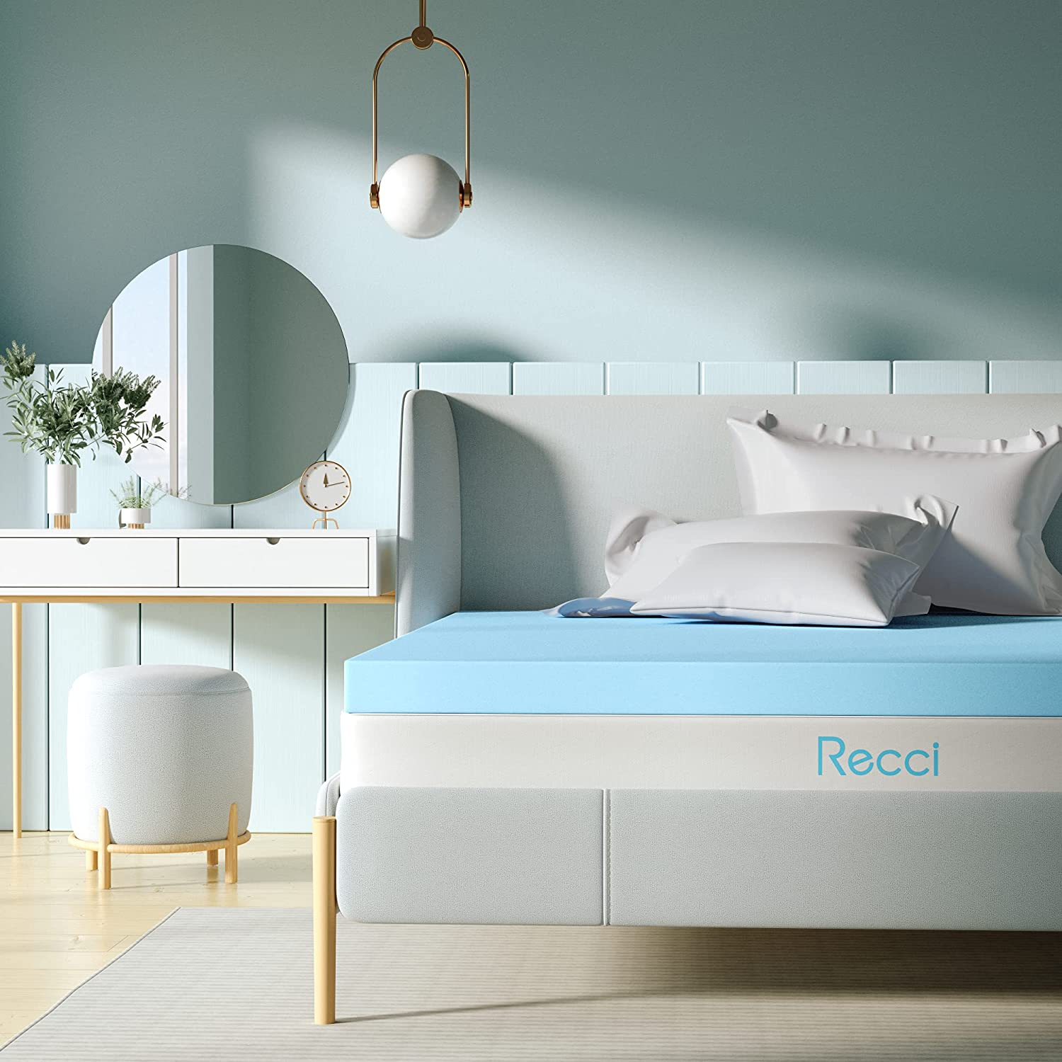 RECCI All stores are sold 2.5Inch Memory Foam Topper Mattress Queen New products world's highest quality popular