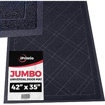 """SlipToGrip - Universal Jumbo Door Mat with DuraLoop - XL Indoor/Outdoor 42""""x35"""" Outdoor Indoor Entrance Doormat - Waterproof - Low Profile Door Mat - Welcome - Front Door, Garage, Patio - Non Slip"""