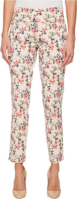 Amelia Slim Ankle Pull-On Print Jeans in Sweet Peony