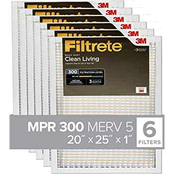 Nordic Pure 20x25x1 MPR 1085 Pleated Micro Allergen Extra Reduction Replacement AC Furnace Air Filters 6 Pack