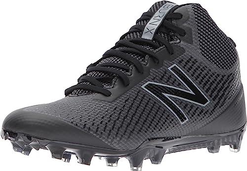 New Balance Hommes's Burn Mid Speed Lacrosse chaussures, noir, 4.5 D US