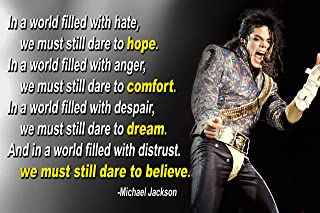 Michael Jackson Poster Quote Black History Month Classroom Décor MJ King of Pop Quotes Wall Art Posters Memorabilia Decorations Birthday Gifts Mindsets Classrooms Decorations Art Present Music P037