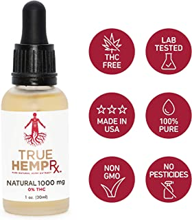 Hemp Extract Oil - 1000 MG, 0% THC, Grown, Cured & Extracted in USA - May Help with Inflammation, Pain Relief, Stress Support, Anti Anxiety & Sleep Support - Rich in Omega Fatty Acids, Unflavored