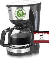 Emerio CME-122933, filterkaffebryggare, 1,25 l för upp till 10 koppar färskt kaffe, avtagbart permanent filter,...