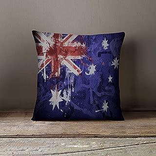Promini Decorative Pillow Cover Australia Pillowcase Australian Flag Decor Throw Pillow Cover Australia Decor Case Pillow Case Native Gift Patriotic Decor Australia Pillow for Home Couch Sofa Bedding