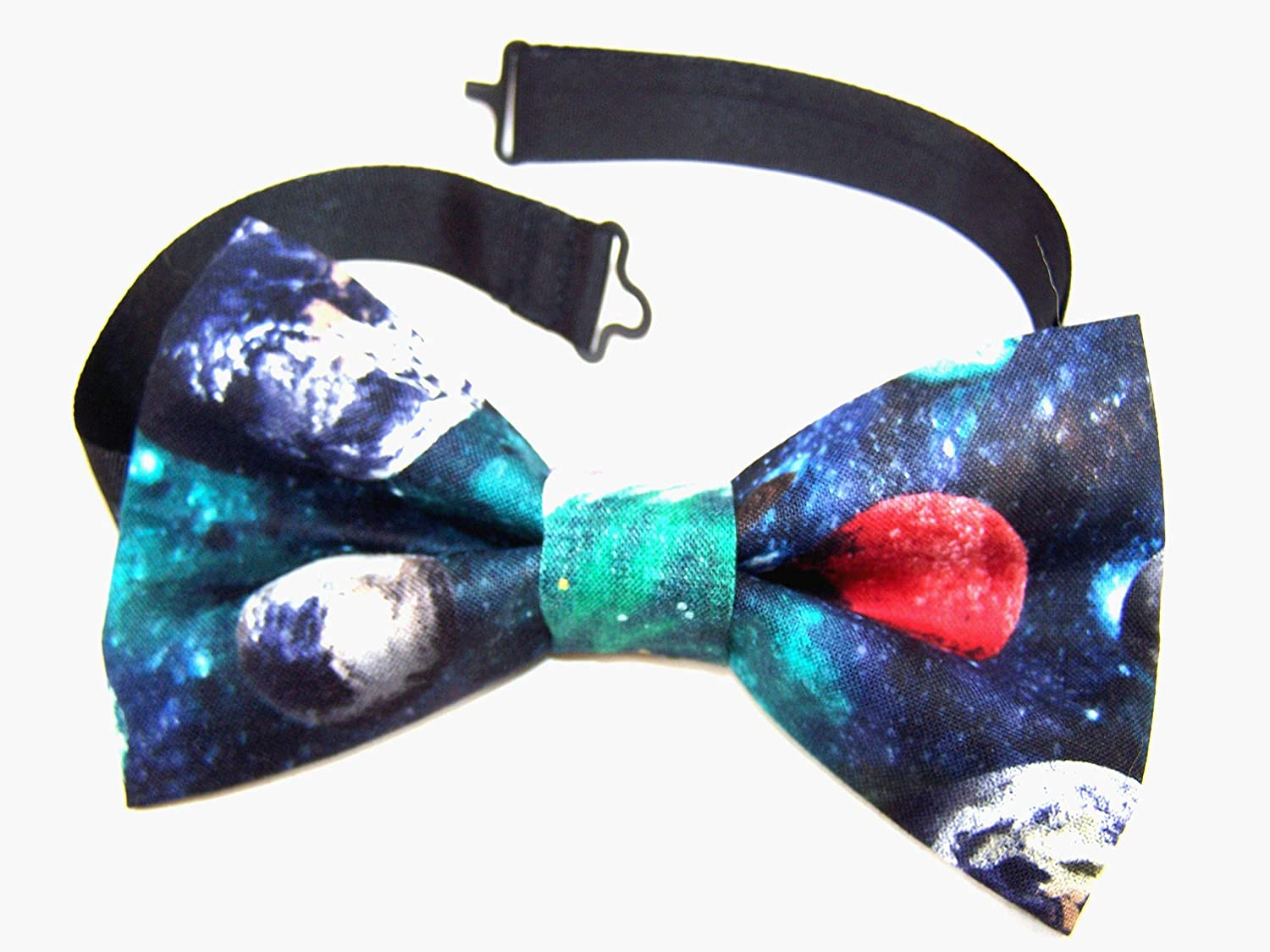 Planets Bow Tie Max 64% OFF Galaxy Astronomy Adjustable Pre-Ti All items in the store Geeky