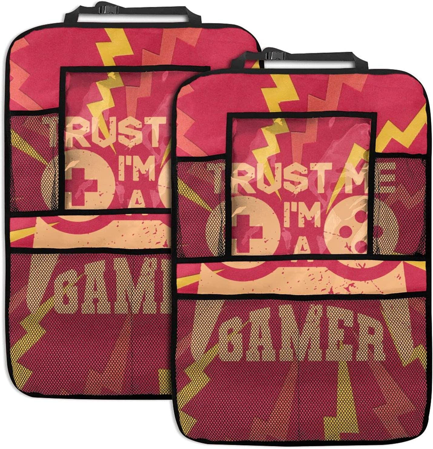 Trust Me I'M A Gamer 2pc Seat Limited time sale Back Prote Organizer Backseat Car Ranking TOP11