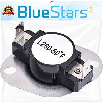 DC47-00018A Dryer High Limit Thermostat Replacement Part by Blue Stars – Exact Fit For Samsung & Kenmore Dryers - Replaces 35001092 503497 AP4201898 AP6008682 PS4205217