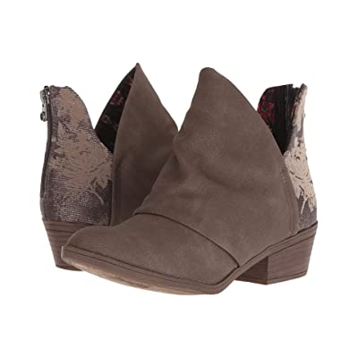 Blowfish Skirr-B (Mushroom Rustic FX Suede/Pewter) Women