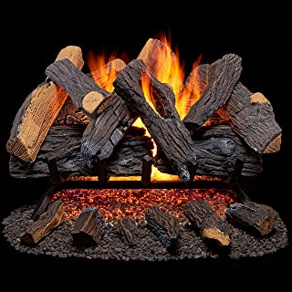 Duluth Forge FNVL24-1 Vented Natural Gas Fireplace Log Set-55,000 BTU, 24 Inch, Oak