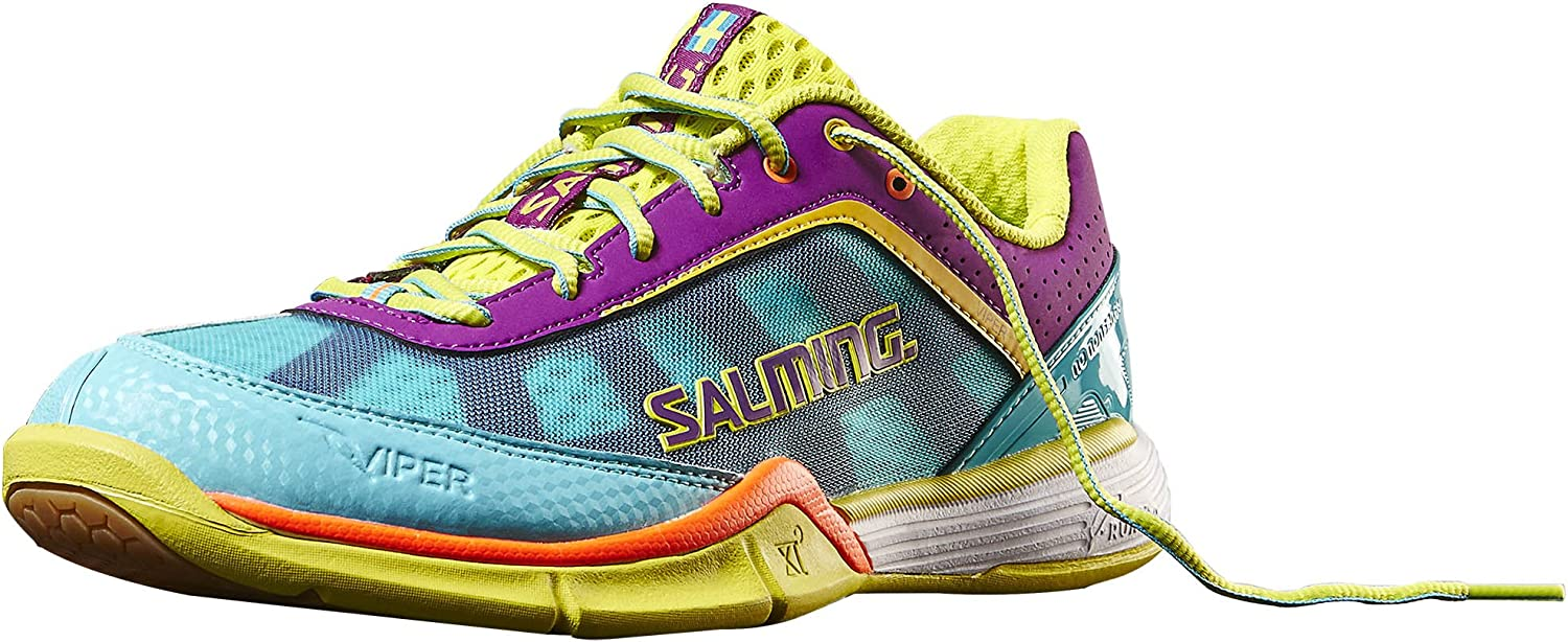 Salming Viper 3.0 Turquoise Cactus Flower Indoor Court shoes