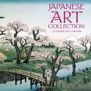 """Graphique Japanese Art Collection Wall Calendar, 16-Month 2022 Calendar, 12""""x12"""" w/ 3 Languages, 4-Month Preview & Marked ..."""