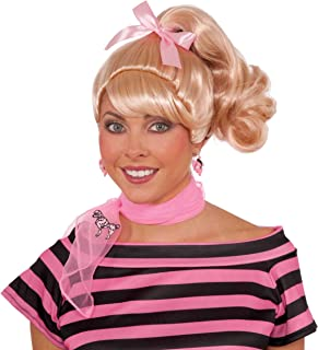 Forum Novelties Women's 50's Cutie Wig with Pink Bow