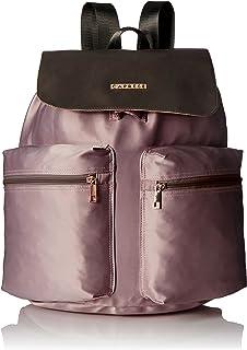 Caprese Alistair Women's Backpack (Peach and Brown)