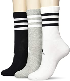 adidas Women's 3-Stripes Cushioned Crew Socks (3 Pairs)