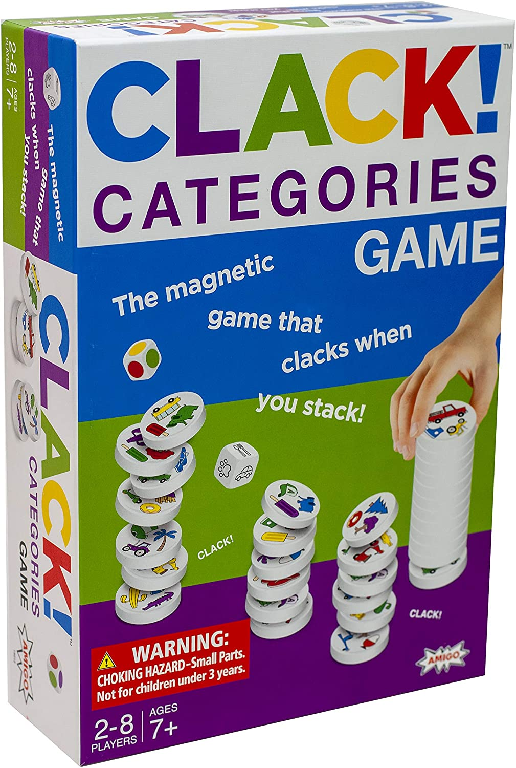 AMIGO Clack Categories Kids specialty shop Ranking TOP6 Magnetic for 7+ Game Ages Stacking