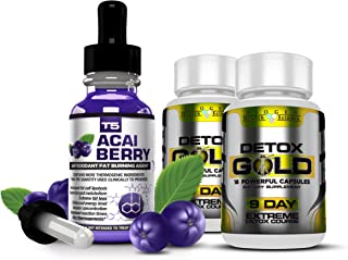 Biogen Health Science T5 Acai Berry Serum & Detox Gold (1 Month Supply)