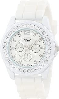 XOXO Womens Quartz Watch, Analog Display and Silicone Strap XO8040