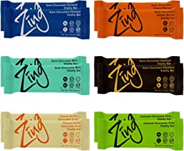 Zing Vital Energy Nutrition Bar, Variety Pack, (12 Bars), High Protein, High Fiber, Low Sugar, Most Popular Flavors, 4 Chocolate Coated, 2 Soft Cookie Dough