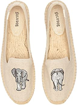 Elephant Embroidered Smoking Slipper