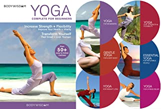 Yoga for Beginners Deluxe 6 DVD Set: 8 Yoga Video Routines for Beginners. Includes Gentle..