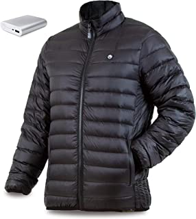 Men's Down Heated Jacket with Battery 12 Hour - Heated...