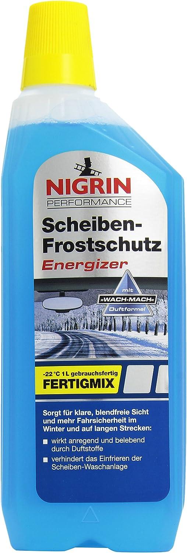 Nigrin 73155 Scheiben Frostschutz Energizer Gebrauchsfertig Bis 22 C 1 Liter Schlierenfreier Und Effektiver Scheibenreiniger Winter Auto