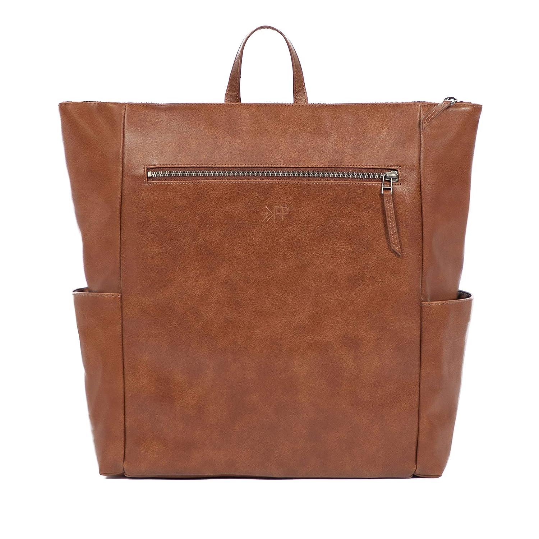 Freshly Picked - Minimal Diaper Pack Backpack - Large Internal Storage 7 Pockets 4 External Pockets Wipeable Vegan Leather