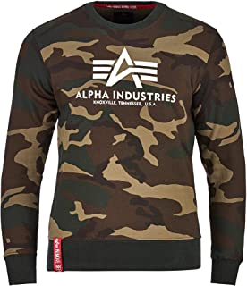 ALPHA INDUSTRIES Men's Basic Sweater Camo Sweatshirt
