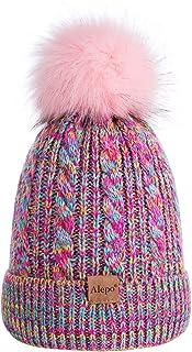 Kids Winter Beanie Hat, Children's Warm Fleece Lined Knit...