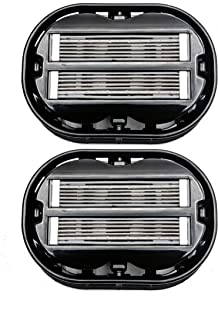 2x Classic Omnishaver - Black - The Fastest Way to Shave Head, Legs, Arms, Body | Disposable Shaving Razor Self Cleans & Strops During Use | Hair Cutter with Durable Blade | Bald Head Shaver for Men