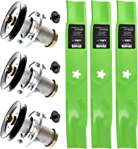 8TEN Spindle Mulching Blade Kit 48 Inch Deck for Husqvarna GTH2548 YTH2148 YTH2448 539112170 532112171